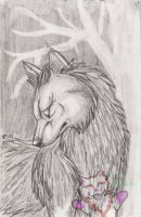 Wolf Among the Forest by Rianne2k8