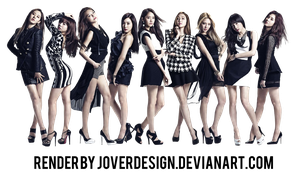 SNSD 'THE BEST' album cover PNG by Jover-Design