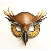 Great Horned Owl Leather Mask by teonova