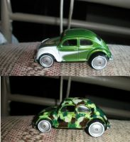 Camo Car Before and After by QueenAliceOfAwesome