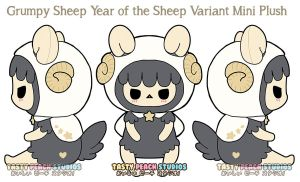 TPS: Year of the Sheep - Grumpy Sheep Mini Plush by MoogleGurl