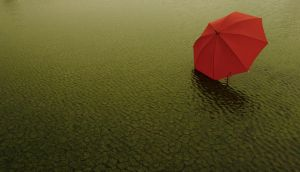 red umbrella by sukahati