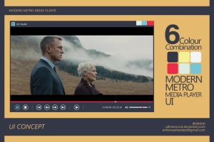 MEDIA PLAYER UI CONCEPT | MODERN METRO STYLE by callmenorulz