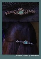 mermaid barrette by bodaszilvia