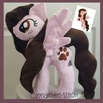 mlp plushie commission ASHLEY completed by CINNAMON-STITCH