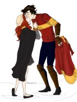After Quidditch Kiss by moonhuntress666