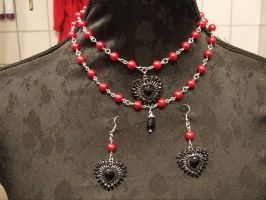 Red and Black love by TheLovelyBoutique