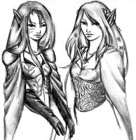 The Elven Sisters by Faily-chan