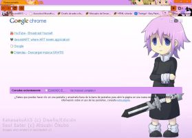 Chrona and Maka Theme Chrome by kakasakuAXS