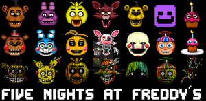 Five nights at freddys wallpaper icons by obitouchiha37