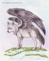 Winged Wolf by Bubble-Chubi