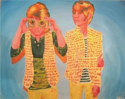 Tegan and Sara Expressionism by decomposerdoll