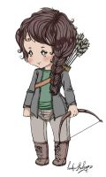 chibi Katniss by LentaMebiusa-chan