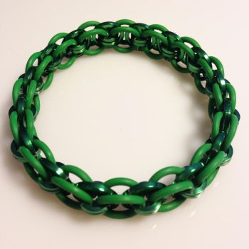 'dA' Style 2 Green EPDM and Green Sq Bracelet by chef-chad