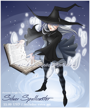 Adopt - Silver Spellcaster (open) by Beedalee-Art