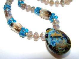 Dolphin Dive....  Necklace by CrysallisCreations