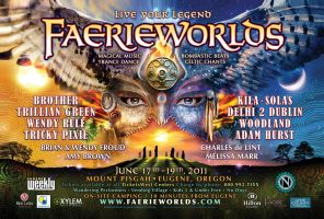 Faerieworlds 2011 Poster Art by bonegoddess