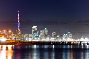 Auckland City at night by MisterDedication