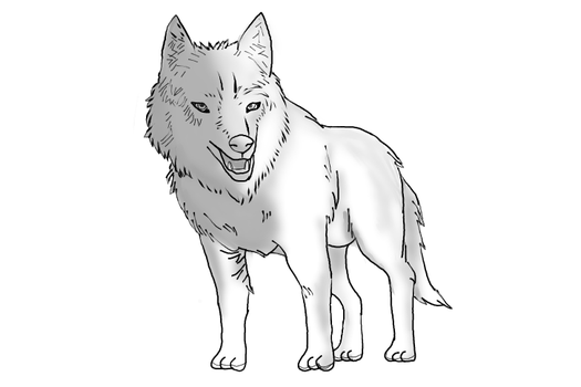 Wolf For Poses Premade. by Holster05