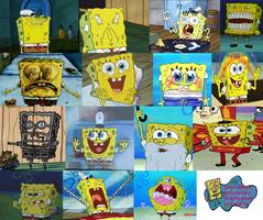 SpongeBob funny faces and weird faces by Ragameechu