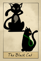 The Black Cat Tarot Card by SteampunkedInkling