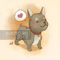 Frenchie by evikted