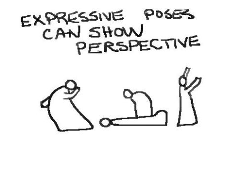 drawing in perspective Expressive Poses by LocationCreator