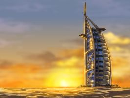 Burj Al Arab by godfathersky