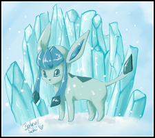 Glaceon - Eiskalter Wind by Sohilicious