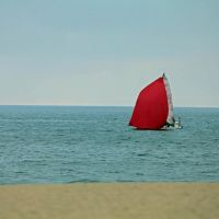 The Red Sail by clippercarrillo