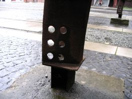 Rusty Pole with Holes by Fea-Fanuilos-Stock