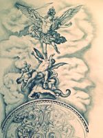 Design for Baroque Style Tattoo Sleeve by ONichollsArt