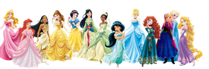 All Disney Princesses plus Frozen by Mary62442