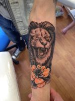 Lion tattoo by WillemXSM