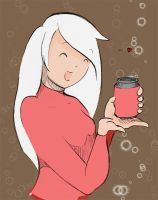 girl with can of cola by AtticCreationz2