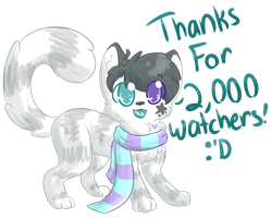 Thanks For 2,000 Watchers! by Pika-Pika-Pikahu