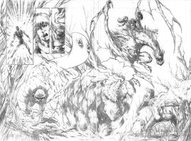 ROM vs THE HERCULOIDS - pencils - pg04-05 by RONJOSEPH-ARTIST
