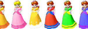 SSB4 Daisy Palettes (My Take) by PichuThePokemon