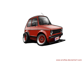 Golf MK1 mini toon by Wrofee