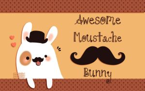 Awesome Moustache Bunny by Naokawaii