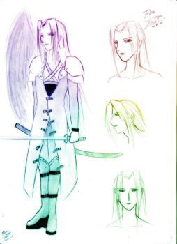 The many faces of Sephiroth. by BlackSapphireFlame