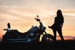 Biker's Dream Sunset by platen