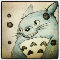 Curious Totoro by Sebekt