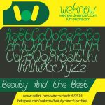beauty and the best font by weknow