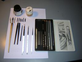 My usual tools for drawing by Dev-pan