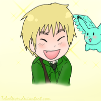 Chibi Iggy with Flying Mint Bunneeeh by Toboe4Ever