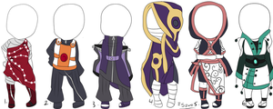 naruto female adoptables batch 4: OPEN (ONE LEFT) by itasasu2002