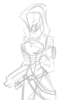 Tali speed draw process gif by fakefrogs