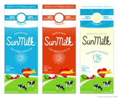 Sunmilk Carton Concepts by BlakliteGraphics