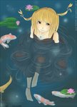collab: Half Koi by everfae